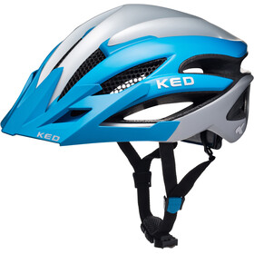 KED Wayron PRO Visor - Casque de vélo - bleu/blanc